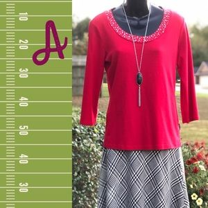 Women's Style & Co. Red Blouse - Size M